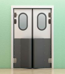 Жесткие маятниковые двери